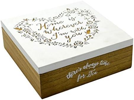 Vilys House Caja Madera Decorada Corazon para Guardar Tus Cosas (joyero, Recuerdos, etc): Amazon.es: Hogar