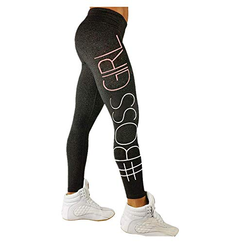 Letter Yoga Pants, Women's Fashion Workout Leggings Fitness Sports Gym Running Yoga Athletic Pants by Neartime ()