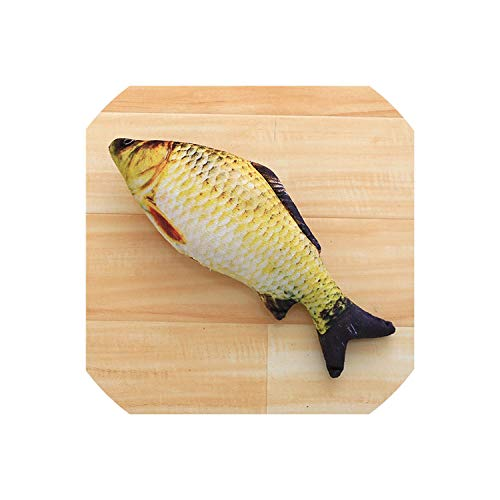 - Plush Creative 3D Carp Fish Shape Cat Toy Gift Cute Simulation Fish Playing Toy for Pet Gifts Catnip Fish Stuffed Pillow Doll,10,20Cm