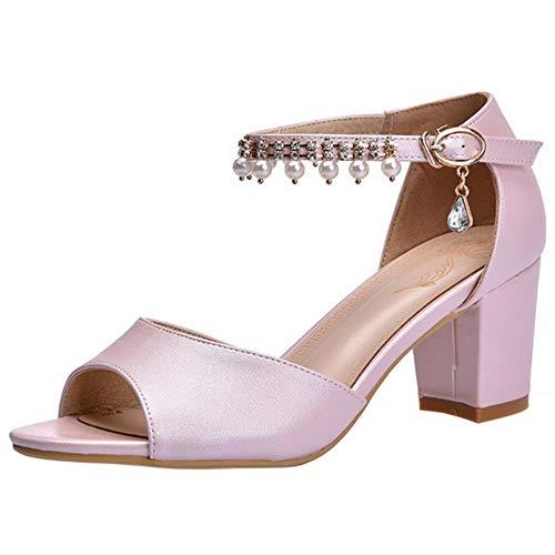 Chaussures Pink Ankle femmes Aux Razamaza Heel Sandales Élégantes H6nw1q
