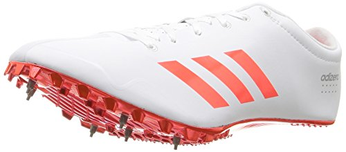 adidas Originals Adizero Prime SP Track Shoe, White/Infrared/Metallic/Silver, 6.5 M US