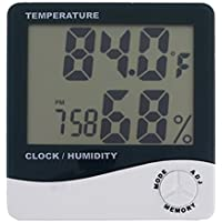 Dealcrox Nice Indoor Digital Humidity Temperature Thermometer Sensor,Hygrometer Meter Gauge with LCD Display for Home Office Indoor Living Room(White)
