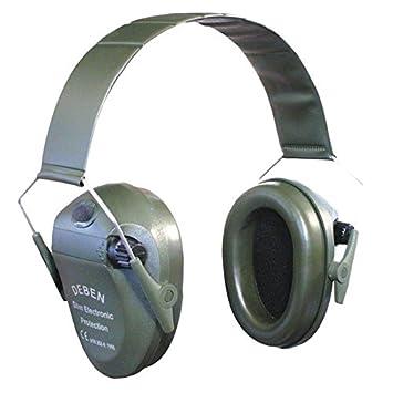 Deben - Orejeras electrónicas aislantes de ruido para tiro deportivo o caza (funda incluida)