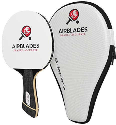 AirBlades - Professional Ping Pong Paddle for Beginner/Intermediate/Advance Players -Table Tennis Paddle Featuring Ergonomic Slope Handle Design - Inc Ping Pong Racket Case (3 Star Ping Pong Paddle)