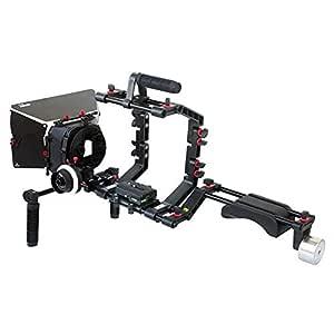 FILMCITY DSLR Camara Jaula Hombro Montar Rig kit con Seguir el ...