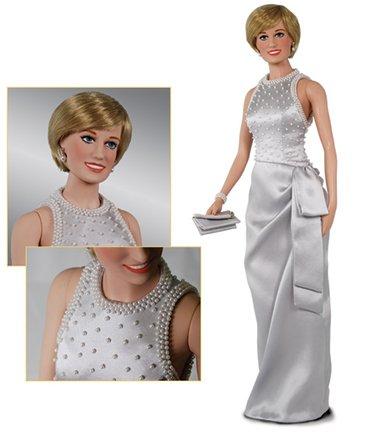 Diana Pearl - Princess Diana Vinyl Portrait Doll - Gray Silk & Pearl Gown