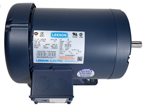 Leeson 101776.00 Jet Pump Motor, 3 Phase, S56J Frame, Rigid Mounting, 3/4HP, 3450 RPM, 208-230/460V Voltage, 60Hz (Three Phase Jet Pump)