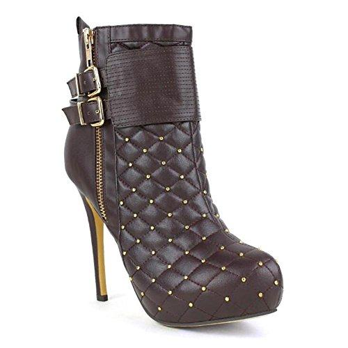 L@YC Damen Stiefel / Herbst / Winter Platforms / Fashion Stiefel & abend Kunstleder abend / Freizeitschuhe Brown