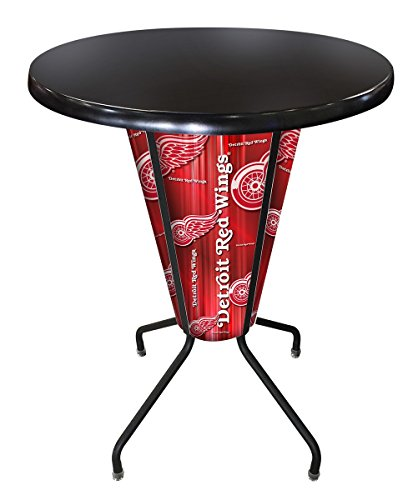 Detroit Red Wings Pub Table - Holland Bar Stool Co. Outdoor/Indoor LED Lighted Detroit Red Wings Pub Table