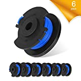 GAVAER Trimmer String Compatible with ryobi String Trimmer line,Super Tough and Durable 0.065' Trimmer String Compatible with Ryobi One 18-Volt 24V 40V Autofeed Replacement Spools,Parts 11ft(6 Pack)