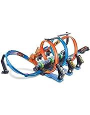 Hot Wheels Action Crash Trackset en racebaan met looping en versneller, voor speelgoedauto's, speelgoed vanaf 5 jaar