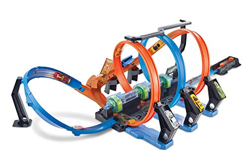 Hot Wheels Triple Looping pista de coches de juguete (Mattel FTB65)