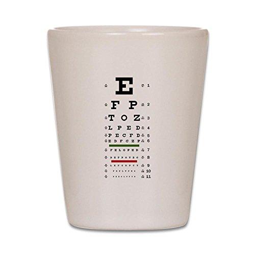 Shot Glass White of Optometrist Opthamologist Eye Chart (Eye Chart Shot Glass compare prices)