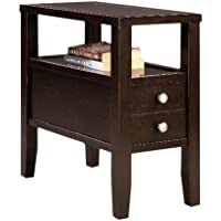 Cappuccino Espresso Finish Wood Bed Side End Table Nightstand 24