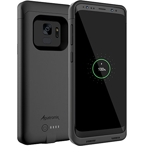 Galaxy S9 Battery Case with Qi Wireless Charging Compatibility, Alpatronix BX440 5.8-inch 4000mAh Slim Rechargeable Extended Protective Portable Backup Charger for Samsung S9 [Android 8.0+] - Black by Alpatronix (Image #9)