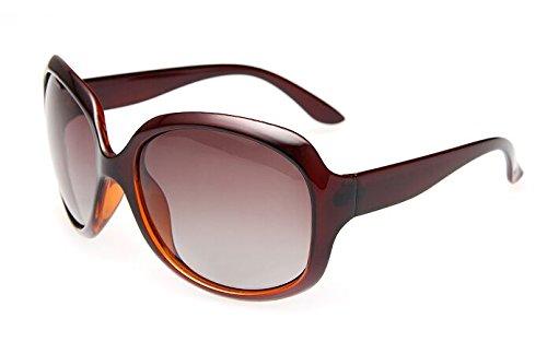 Gafas De Sol Sra Retro Polarizadas Oversized De Sol Compras Gafas Conducción Ocio Sol De Mujer De Gafas De Solsra Gafas Limotai marrón Negro para wqStZZ