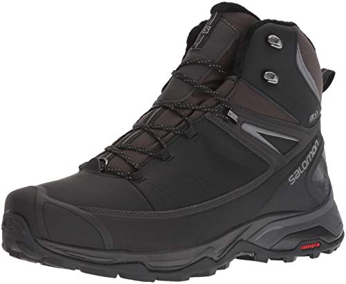 Salomon Men's X Ultra Mid Winter CS Waterproof Hiking Boot, Black/Phantom/Quiet Shade, 10 D US