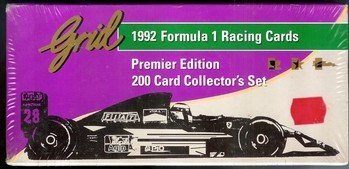 1992 FORMULA 1 RACING CARDS PREMIER EDITION 200 CARD COLLECTOR SET