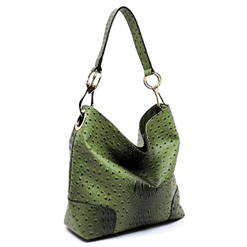 Le New Zip Ostrich Hobo Olive Miel Choices Top Embossed 6 Color Classic Zwq4Odw