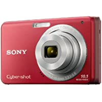 Sony Cybershot DSC-W180 10.1MP Digital Camera with 3x SteadyShot Stabilized Zoom and 2.7-inch LCD (Red) Noticeable Review Image