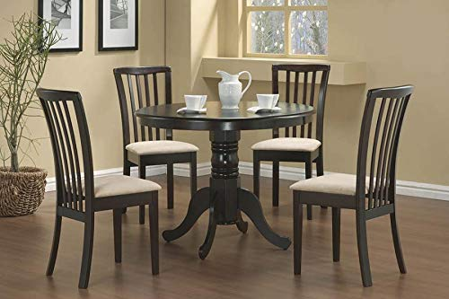 Brannan Round Single Pedestal Dining Table Cappuccino
