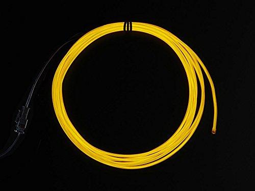 Adafruit EL wire starter pack - Yellow 2.5 meter (8.2 ft) [ADA585]