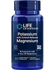 Life Extension Potassium with Extend-Release Magnesium – Dual-Action Mineral Formula for Blood Pressure Support – Gluten-Free – Non-GMO – 60 Vegetarian Capsules