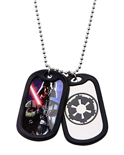 Star Wars Jewelry Darth Vader Stainless Steel and Black Silicone Men's Bracelet, 7