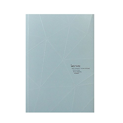 (imSTONE Stone Paper Journal Notebook A5 (Cross Dotted/Squared Inner Pages), Waterproof and Reusable Journal for Men and Women-Rock Book (Gray))