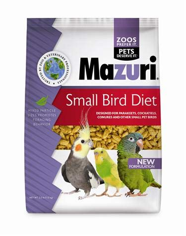 Pellets Cockatiel (Mazuri Small Bird Maintenance Bird Food, 2.5 lb Bag)