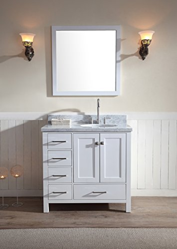 Ariel Cambridge A037S R Wht Bathroom Countertop Noticeable