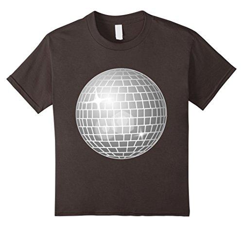 Kids I Love Disco T-Shirt with Silver Cool Mirror Ball Tee Shirt 6 Asphalt