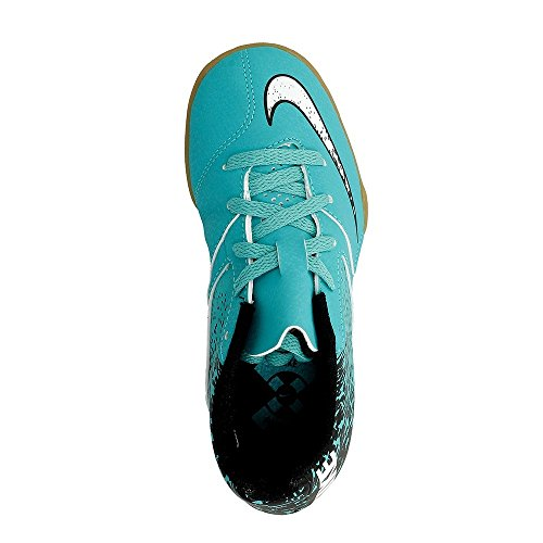 Nike Unisex-Erwachsene Jr Bombax IC Fußballschuhe Verde (Clear Jade / White-Black)