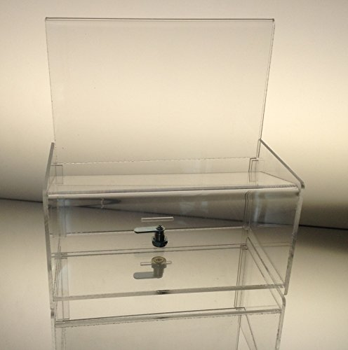 Dazzling Displays Clear Acrylic Easy Drop Donation Box by Dazzling Displays