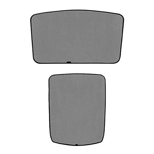 WJM Sunroof Sunshade Glass Roof Sunshade Skylight Blind Shading Net for Tesla Model 3 (Front Sunshade&Rear Sunshade) 2PCS