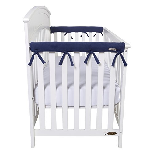 Narrow CribWrap Crib Wrap 3PC Rail Cover Set By Trend Lab - 1- 51'' Front Rail Cover & 2- 27'' Side Rail Covers (Navy) by Trend Lab (Image #1)