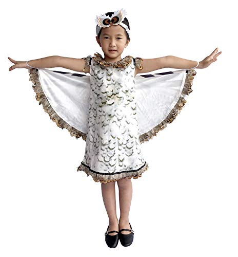 So Sydney Deluxe Girls White Owl Costume & Accessories, Kid Toddler Halloween Dress-Up (S (2T/4T), White Owl) ()