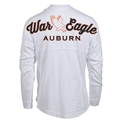 Official NCAA Auburn University Tigers Aubie Tiger WAR Eagle! Women's Long Sleeve Spirit Wear Jersey T-Shirt ()