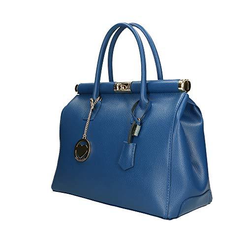 Pelle 35x28x16 Borsa In Bag Borse Italy A Bluette Mano Made Cm Chicca nFSzYqcn