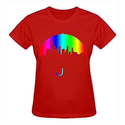 personalized Umbrella Women Round Neck T Shirts (St Louis Rams Round Charm)