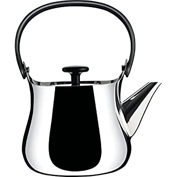 alessi tea kettle reviews target replacement parts teapot stainless steel mirror polished handle and knob thermoplastic resin magnetic bottom suitable for in