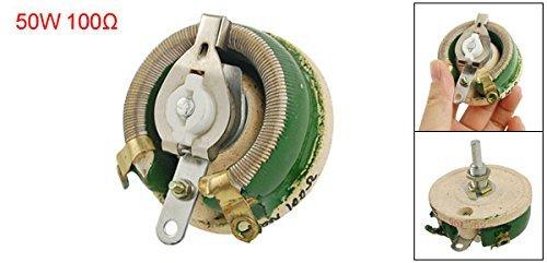 DealMux a11082400ux0189 keramische Scheibe regelbarer Widerstand Rheostat 100 Ohm 50W