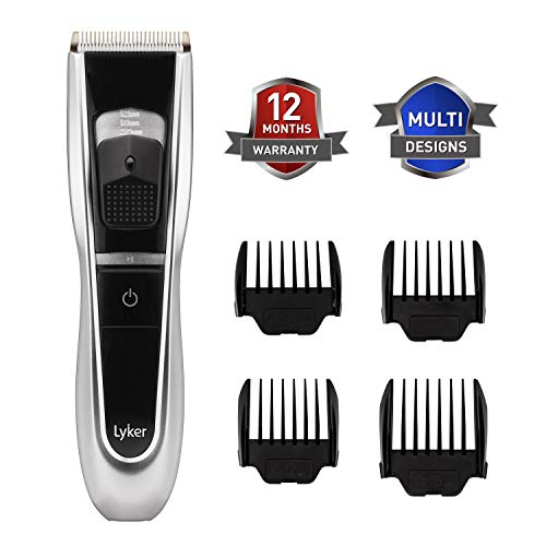Beard Trimmer/Hair Clipper for Men,Precision Hair Trimmer and Hair Cutting Kit,beard mustache groomer,Rechargable with 4 Adjustable Precision Length,4 Comb Attachments,Corded/Cordless use