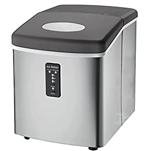 Ice Machine – Portable, Counter Top Ice Maker Machine TG22 – Produces 26 lbs Of Ice Per 24 Hours – Stainless Steel – Top Rated Ice Maker For Countertop use By ThinkGizmos (trademark protected) 41ywfIlcB1L