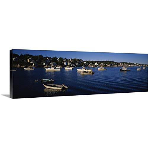 (GREATBIGCANVAS Gallery-Wrapped Canvas Entitled Boats docked at The Harbor, Stonington Harbor, Deer Isle, Hancock County, Maine by 60