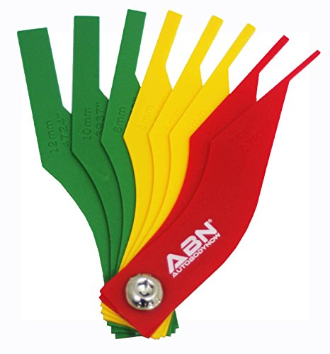 Brake Lining Thickness Gauge (ABN Brake Lining Thickness SAE & Metric Gauge 8 Piece Tool Set)
