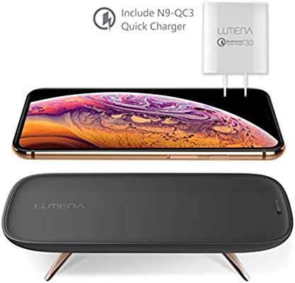 Amazon.com: LUMENA N9-W1 cargador inalámbrico rápido, 15 W ...
