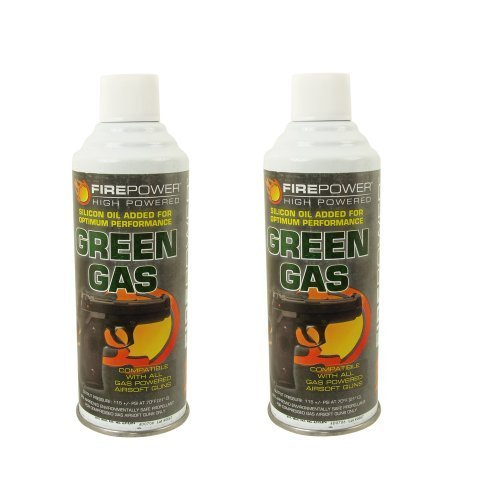 Palco Firepower Green Gas (x2) Dual Pack 8oz Cans ()