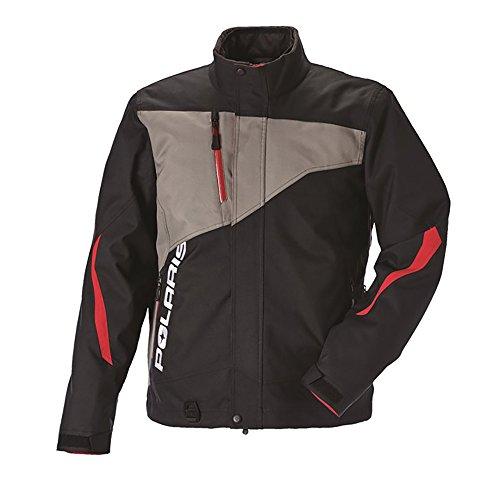 Polaris New OEM Men's Snowmobile Throttle Jacket 3XL Black/Gray, 286771414 (Mens Snowmobile Jackets 3xl)