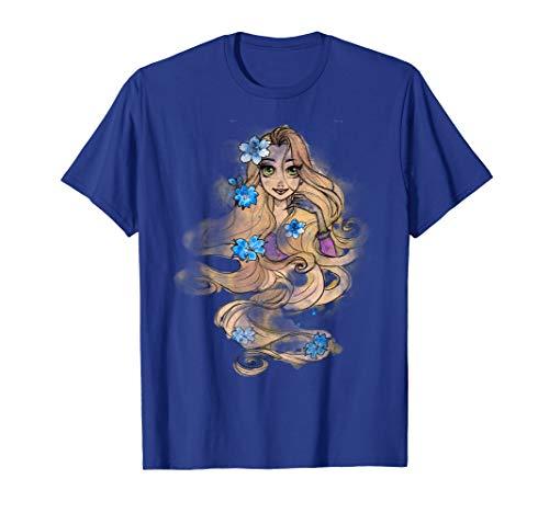 Disney Tangled Rapunzel Watercolors Portrait Graphic T-Shirt
